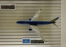 在羽田空港的模型飞机在东京,日本 免版税图库摄影