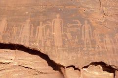 在翼膜的岩石绘画 免版税库存图片