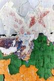 担任主角在老军事营房战士的墙壁上 库存图片