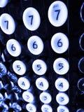 在老加法器的数字钥匙 免版税库存图片