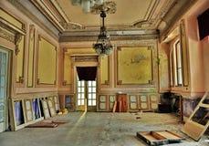 在老历史赌博娱乐场大厦的内部 库存照片