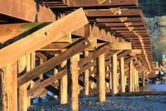 在老叉架桥下 免版税库存照片