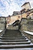 在老城堡的台阶 库存照片