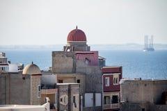 在老城市Monastir的鸟瞰图 突尼斯 库存图片