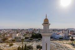在老城市Monastir的鸟瞰图 突尼斯 免版税库存图片