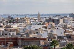 在老城市Monastir的Aeriall视图 突尼斯 库存照片