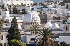 在老城市Monastir的Aeriall视图 突尼斯 库存图片