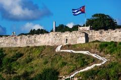 在老堡垒的台阶 免版税库存图片