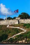 在老堡垒的台阶 库存照片