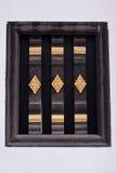 在老塔的古老窗口 免版税库存照片