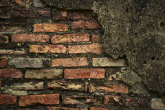 在老墙壁的砖 免版税库存图片