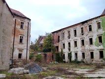 在老处所的被放弃的大厦布拉索夫 图库摄影