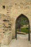 在老市的墙壁的入口巴库,阿塞拜疆 免版税库存照片