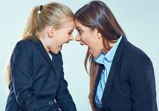 在老师和学生之间的冲突 免版税库存照片