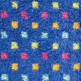 在老席子的特写镜头表面织品样式有五颜六色的小点纹理背景 库存图片