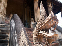 在老挝人的历史的寺庙 库存图片
