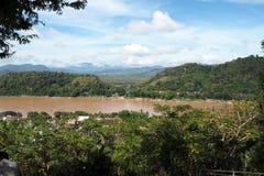 在老挝人的琅勃拉邦大局 库存图片