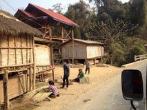 在老挝人的生活方式 库存照片
