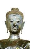 在老挝寺庙的被隔绝的半身体古老佛教雕象 免版税库存图片