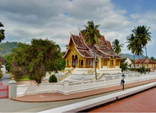 在老挝的国家博物馆的Wat Mai在琅勃拉邦 免版税库存照片