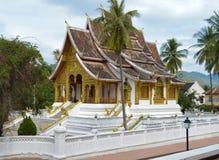 在老挝的国家博物馆的Wat Mai在琅勃拉邦 库存图片