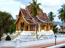 在老挝的国家博物馆的Wat Mai在琅勃拉邦 免版税库存图片