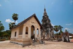 在老挝, Pra Thart Ing的古老寺庙停止 免版税库存照片