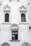 在老教会的三个窗口 克里姆林宫莫斯科 库存照片