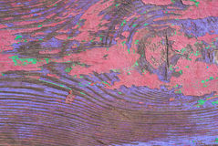 在老木的切削的油漆门纹理背景 免版税库存照片