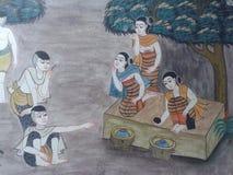 在老泰国文化 免版税库存照片