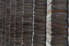 在老石头的砖墙 免版税库存照片