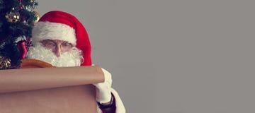 在老纸的圣诞老人文字 库存图片