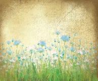 在老纸背景的传染媒介花卉样式。 免版税库存照片