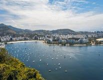 在老虎山的令人惊讶的里约热内卢视图 图库摄影