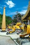 在老虎洞寺庙的Chedi 库存照片