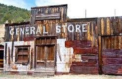 在老西部的商业外面 库存照片