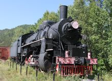 在老铁路的吹风者 免版税库存图片