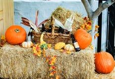 在老镇的秋天装饰在圣地亚哥,加利福尼亚 库存图片