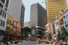 在老集市广场的尖沙咀钟楼 免版税库存图片