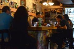 在老贾法角火车站的餐馆酒吧 免版税库存照片