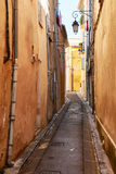 在老Aix en Provnece的街道 免版税库存图片