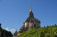 在老Bagan的Stupas 免版税库存图片