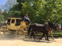在老Sturbridge村庄的支架在马萨诸塞 库存图片