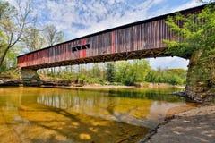 在考克斯福特的被遮盖的桥 库存照片