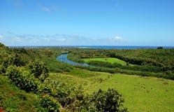 在考艾岛海岛上的Wailua河 免版税库存照片
