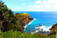 在考艾岛的灯塔 库存图片