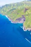 在考艾岛的鸟瞰图 库存图片