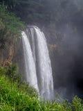 在考艾岛,夏威夷的Wailua瀑布 免版税库存照片