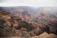 在考艾岛,夏威夷的Waimea峡谷 免版税库存图片