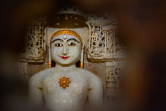 在耆那教的寺庙的神象 Jaisalmer堡垒 拉贾斯坦 印度 库存照片